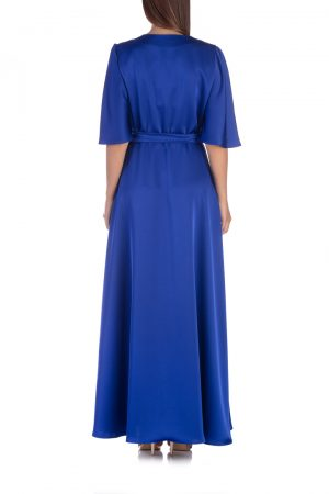 Blue-satin-wrap-dress-back-elsa-barreto