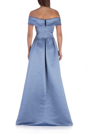 Blue-shoulderless-long-dress-with-split-back-elsa-barreto