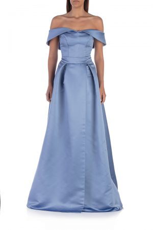 Blue-shoulderless-long-dress-with-split-front-elsa-barreto