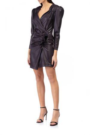 wrap-mini-dress-ruffle-trim-elsa-barreto-front